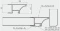 GTV Профіль Glax PA-GLAXWN-AL, торцевий для плити ДСП 18 мм, алюміній (комплект з дифузором і ущільнювачем) 0