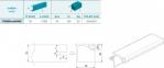 Профіль алюмінієвий горизонтальный для верхніх тумб GOLA мод. 268, 4000мм, колір 801 алюміній 0
