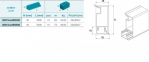 Плінтус кухонний мод. 213 ПВХ  4000мм, висота 40 мм., колір 800 0