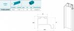 Профіль алюмінієвий вертикальний одинарний GRIP мод. 1020, 4400мм 1