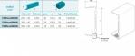 Профіль для стільниць алюміній, 4200мм, колір 801 алюміній 0