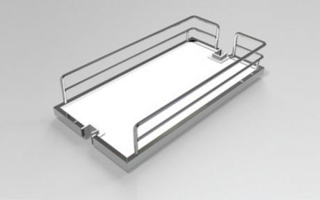 Wireli Корзина до висувної високої колони, суцільне біле дно, серія Compact