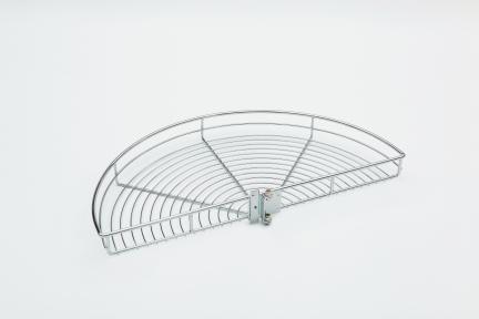Wireli Обертова кутова система 1/2 кола, карусель 180°, хромована, кріплення до корпусу, серія Komfort