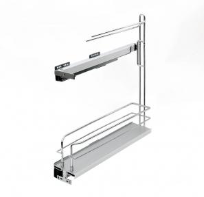 Wireli Висувна корзина-карго з тримачем для рушників, 2 рівня, направляючі Wireli (повний висув), серія Komfort