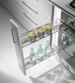 Inoxa Карго, висувна корзина для пляшок та зберігання, 2 рівні, направляючі Hettich (повний висув), серія Gold 1104Y