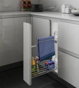 Inoxa Карго для миючих засобів з тримачем для рушників, направляючі Hettich (повний висув), серія Gold 1106Y