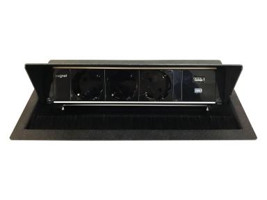 Maxbert Magnat Box вмонтований блок розеток 3*230V+USB charger