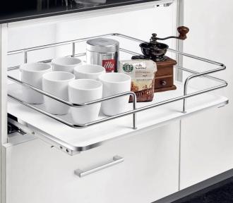 Wireli Висувна корзина внутрішня, біле дно, направляючі Wireli (повний висув), серія Elegance