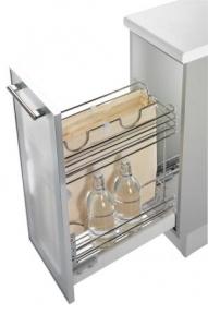 Inoxa висувна корзина-карго, для хліба і пляшок,направляючі Hettich (повний висув) 3105Y