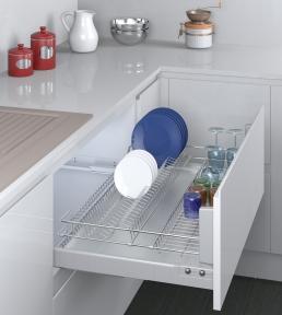 Inoxa висувна сушка для посуду, серія Cromatica, направляючі Blum (повний висув) серія 3703