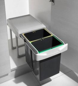 Висувний сортер для сміття, пластик, серія 97A
