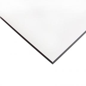 Стільниця HPL Compact FunderMax 0085 Fine Hammer White 12мм, чорне ядро