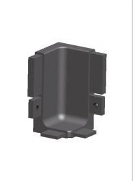 Кут внутрішній алюмінієвий для профіля GOLA 1005, мод. 1015І