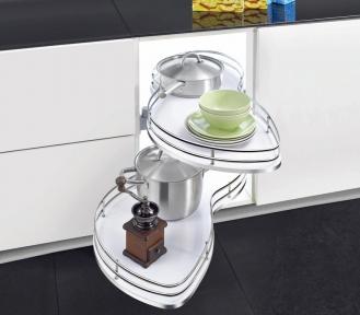 Wireli Поворотна висувна кутова система, плавне закривання, суцільне біле дно, серія Elegance