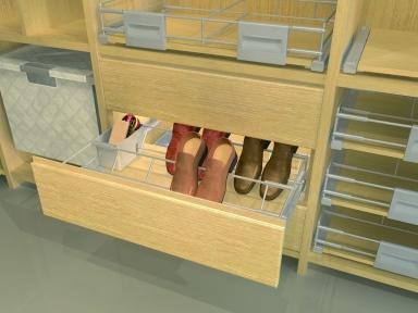 Wireli Висувна полиця для взуття Hogar Plus з кріпленням до фасаду