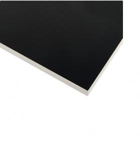 Стільниця HPL Compact FunderMax 0080 FH/WC (Fine Hammer) Black 12мм, біле ядро WC