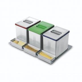 Відра для роздільного сортування сміття в висувну шухляду, серія 97 корпус 800мм