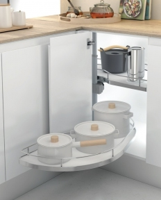 Wireli Поворотна висувна кутова система, плавне закривання, суцільне біле дно, серія Compact
