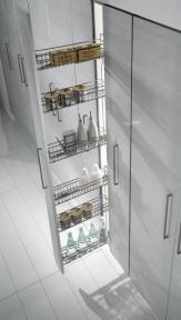 Inoxa Висока висувна колона для корпусу 150мм, 4 рівні корзин, серія 825B