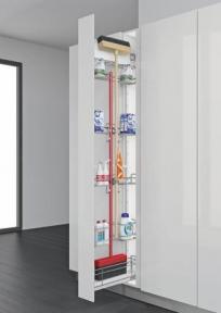 Inoxa Висока висувна колона для щітки та засобів побутової хімії, ширина фасаду 150мм, 841R