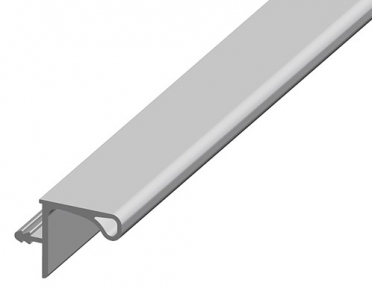 Профіль алюмінієвий горизонтальный для верхніх тумб GOLA мод. 268, 4000мм, колір 801 алюміній
