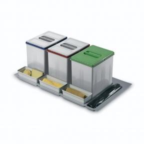 Inoxa Відра для роздільного сортування сміття в висувну шухляду, серія 97 корпус 1000мм