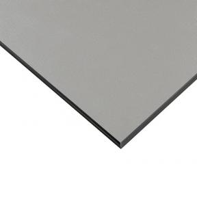 Стільниця HPL Compact FunderMax 0328 Fine Hammer Brushed Aluminium 12мм, чорне ядро