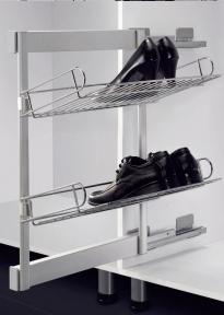 Wireli Висувна полиця для взуття, серія Elegance, 2 рівні, хром