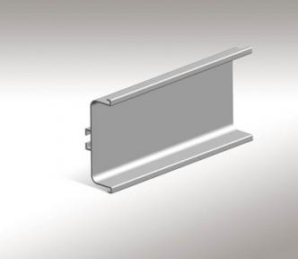 Профіль алюмінієвий горизонтальний для нижніх тумб GOLA