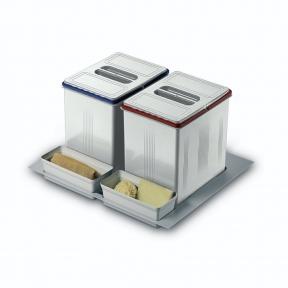 Відра для роздільного сортування сміття в висувну шухляду, серія 97 корпус 600мм