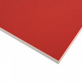 Стільниця HPL Compact FunderMax 0210 FH WC Intensive red, біле ядро, 12 мм, 4100*1854 мм
