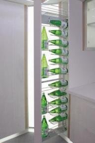 Inoxa Висока висувна колона для пляшок, ширина корпусу 150мм, серія 843R