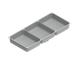 Wireli Ємність для дрібниць 243х107х36 mm, сірий пластик