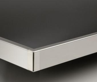 Профіль для стільниць алюміній, 4200мм, колір 801 алюміній