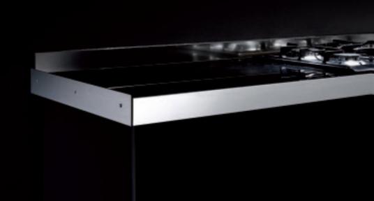 Профіль боковий для стільниць, алюміній, колір 801 алюміній