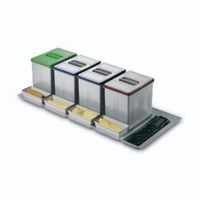Відра для роздільного сортування сміття в висувну шухляду, серія 97 корпус 1200мм