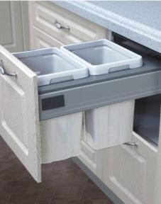 Вклад для сміття для Antaro 500мм, корпус 400мм, 362-368x513x333mm, 2х13л, білий