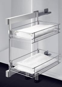 Wireli Висувна полиця для одягу, серія Elegance, 2 рівні, хром
